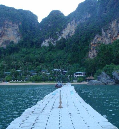 Centara Grand Beach Resort & Villas Krabi: view from floating pontoon