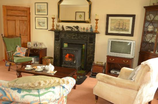 Kilcannon House Bed & Breakfast: Traditional Fireplace