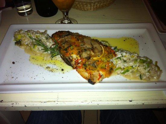La Storia : Fisch auf Spargelrisotto