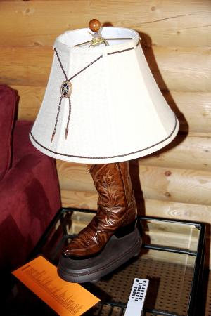 Cody Cowboy Village: Cowboy Boot lamp
