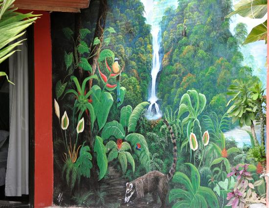 Condotel Las Cascadas: Pool Mural by Local Artist