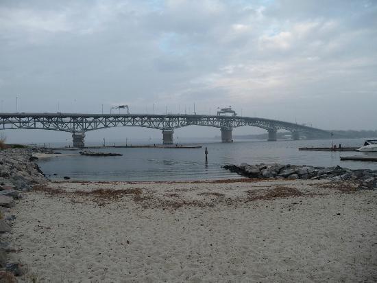 Yorktown Beach View Of Bridge