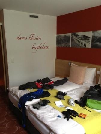 Hotel Ochsen: room with my ski gear