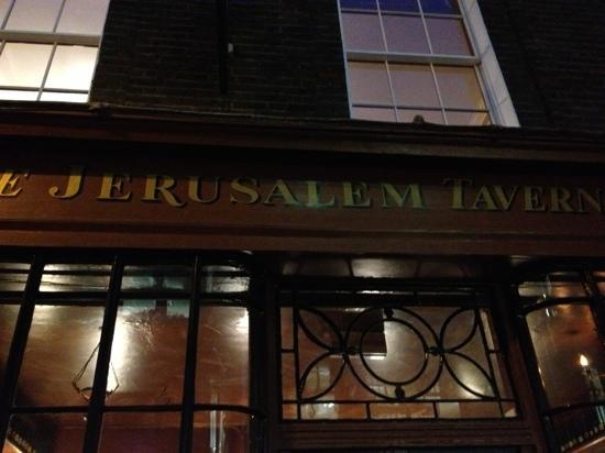 Jerusalem Tavern: façade Jérusalem