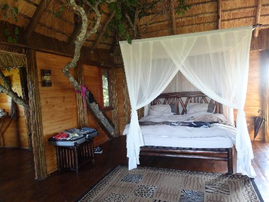 Pezulu Tree House Game Lodge: mountain view