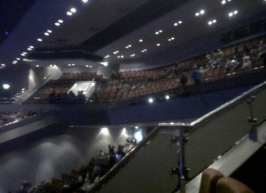 Venue Cymru: Upper stalls in the theatre