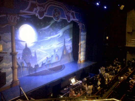 Venue Cymru : Stage set for Peter Pan (December 2012)
