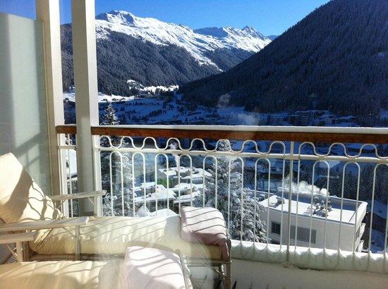 Waldhotel Davos: Balkon Südlage, 3. Etage