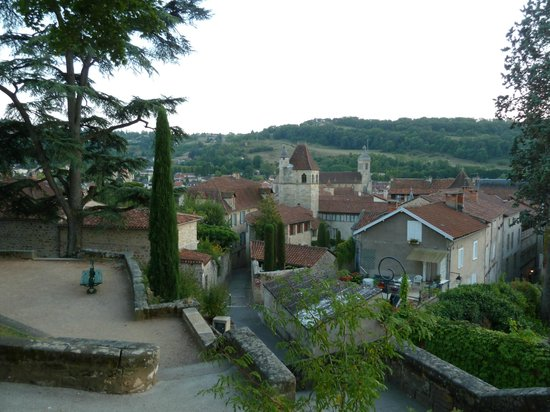 Hotel des Bains: View of town of Figeac