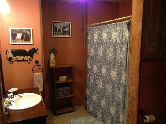 Cajun Country Cottages Bed and Breakfast: Magenta Cottage - Bathroom