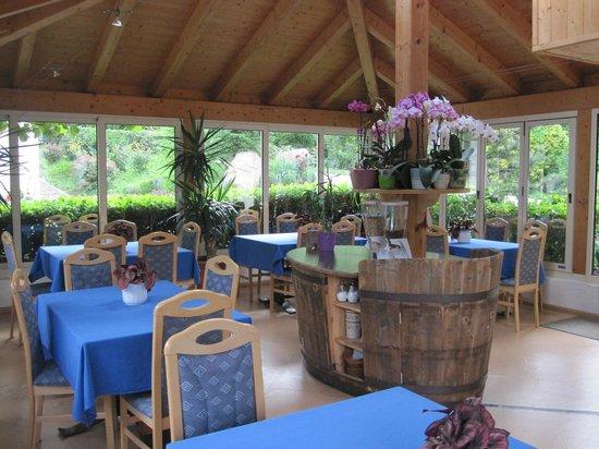Oberschererhof : Orchideen Pavillion , Frühstücksraum
