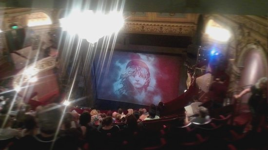 Les Miserables London: view from seats J1-2 upper circle