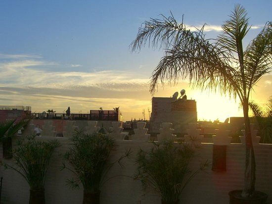 Riad Granvilier: view from the roof terrace