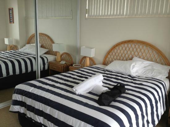 Beaches International: Main bedroom (black bag not included :))