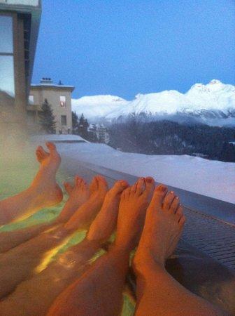 Kulm Hotel St. Moritz: Aussenpool