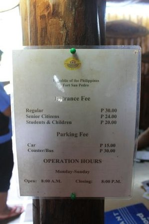 ‪‪Fort San Pedro‬: Entrance Fee @ Fort San Pedro (12/07/2012)