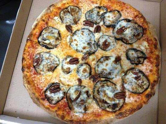 Phillippe French Pizza: Eggplant and Pecans Pizza