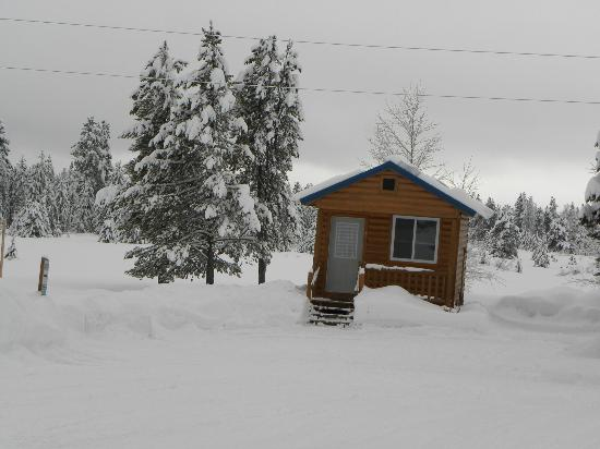 Island Park, ID: Cabin's are open in the Winter