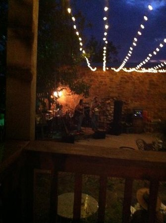 The Badu House: Badu's outdoor patio usually has music.