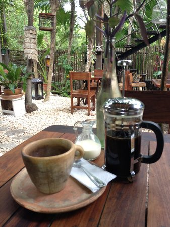 Casa Jaguar Tulum: fresh coffee for breakfast!