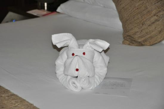 ‪‪Vivanta by Taj - President, Mumbai‬: towel art on the bed‬