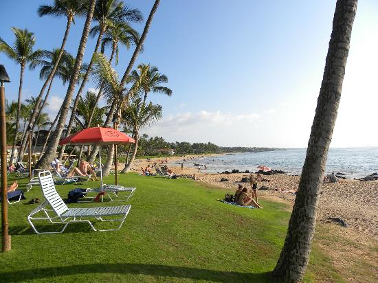 Mana Kai Maui: Beach and lawn