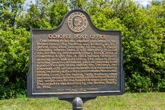 Ochopee Post Office: Historical Marker