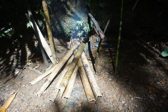 Longhouse Adventure Homestay: Delicious Ba,boo Rice