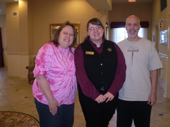 BEST WESTERN PLUS Vineyard Inn & Suites: Megan the front desk staff and us