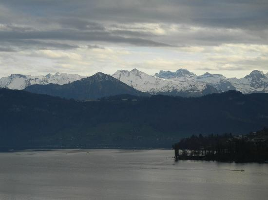 Art Deco Hotel Montana Luzern: Swiss Alps - view from room balcony