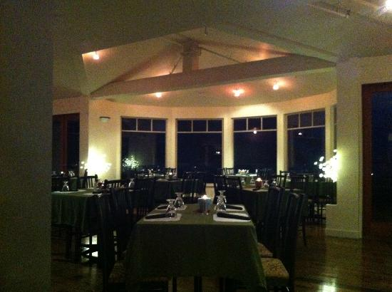Bennett Bay Bistro: our dining room, gumboots always welcome