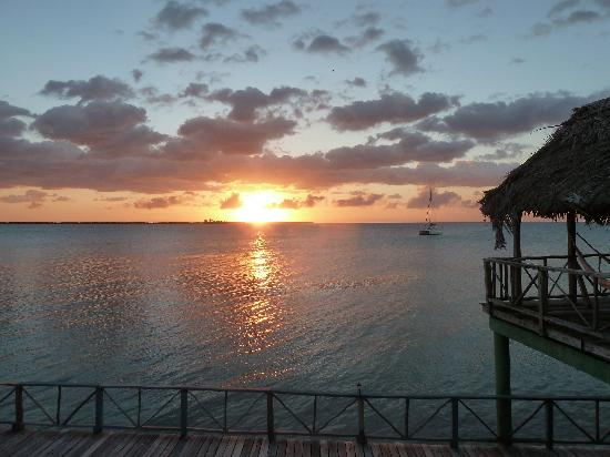 Thatch Caye Resort : Beautiful Sunsets