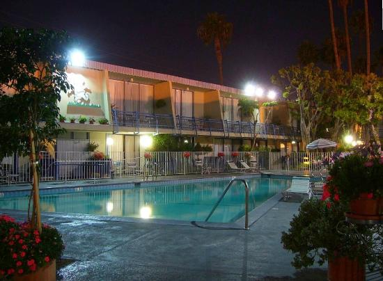 Travelodge Hotel LAX Los Angeles Intl: Pool view night 01