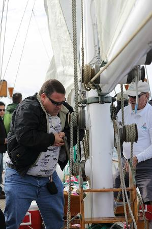 Curlew Charters Inc.: Passengers get to help raise the sails!