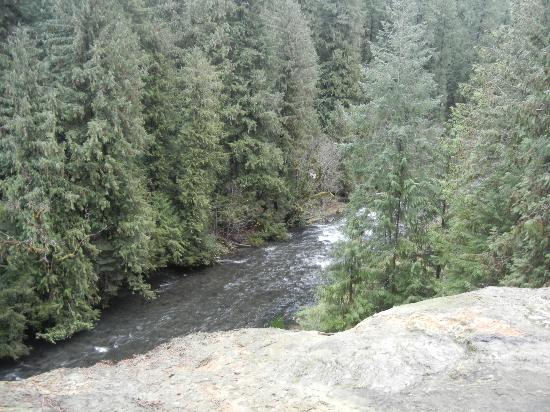Umpqua Hot Springs: View from pools