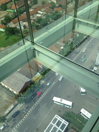 The Trans Luxury Hotel Bandung: See Thru Glass on 18th Floor