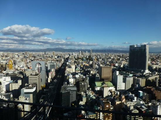 Hotel Monterey Grasmere Osaka: View of Dontonbori on the right, nice!