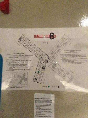 BreakFree Bell City: I was told I was staying at Budget1, but the room emergency map says im staying at le student8 ?