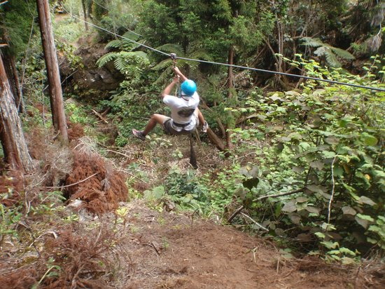Saint-Louis, Reunion Island: zip line