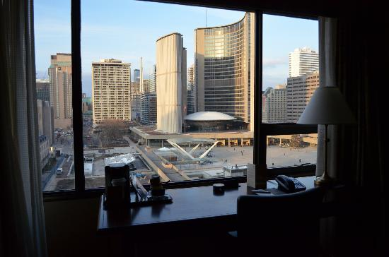 Sheraton Centre Toronto Hotel: View from Self-Contained Suite (north)