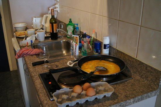 City Travellers Auckland : Aneks kuchenny w apartamencie.