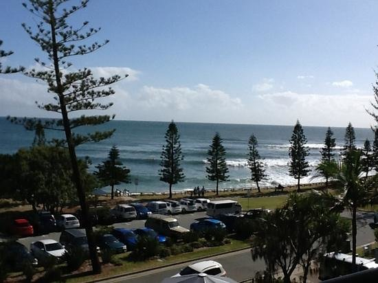 Norfolks on Moffat Beach: view from the balcony
