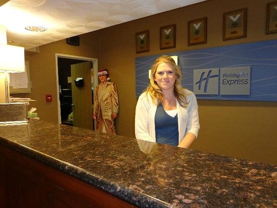 Holiday Inn Express Morgantown: Krissy Garrett waiting to check you in