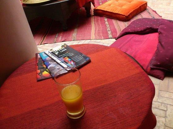 Riad Boussa: オレンジジュースも美味しかった。