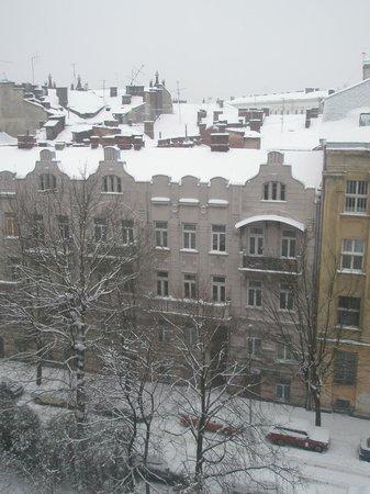 Отель Днистер: Вид из окна номера 7-го этажа
