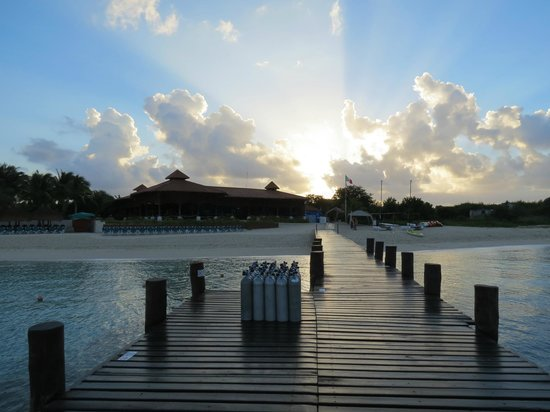 Royal Level at Occidental Cozumel: Morning on the dock