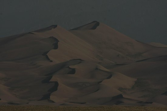 Great Sand Dunes Lodge: View from your room at dawn