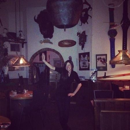 Alphorn Swiss Restaurant: having fun at the alphorn!