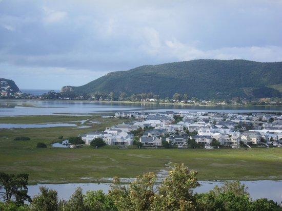 Candlewood Lodge: Blick auf die Lagune und den Indischen Ozean