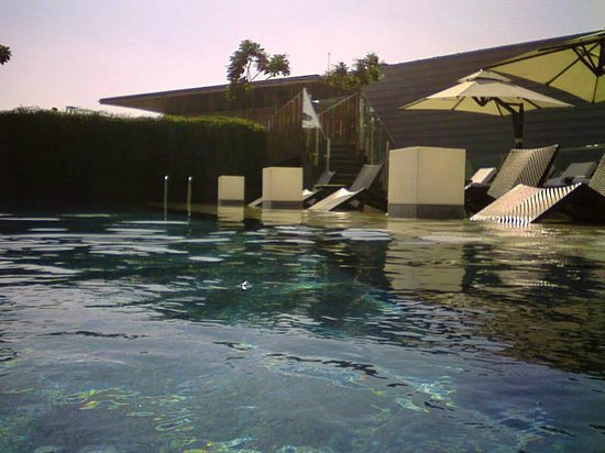 Noon swim in the surprisingly always empty infinity pool - Chandigarh hotel with swimming pool ...